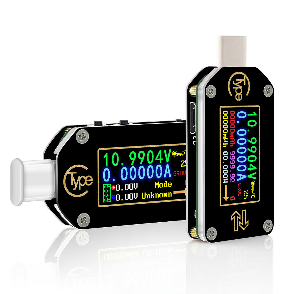 RUIDENG TC66/TC66C Type-C PD Trigger USB Voltage Ammeter Capacity Meter 2 Way Measurement Charger Battery APP PC USB Tester