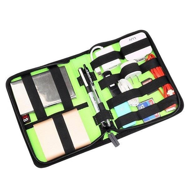 BUBM DSK Universal Cable Organizer Portable Electronics Accessories Bag  Hard Drive Case Storage Bag
