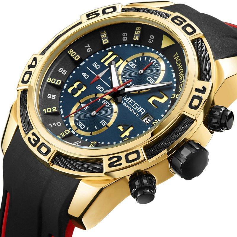 b349c75ac94 MEGIR 2045 Sport Watches Military Chronograph Silicone Strap Men Quartz  Watch COD
