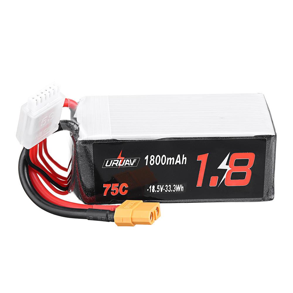 URUAV 18.5V 1800mAh 75C 5S Lipo Battery XT60 Plug for RC Drone