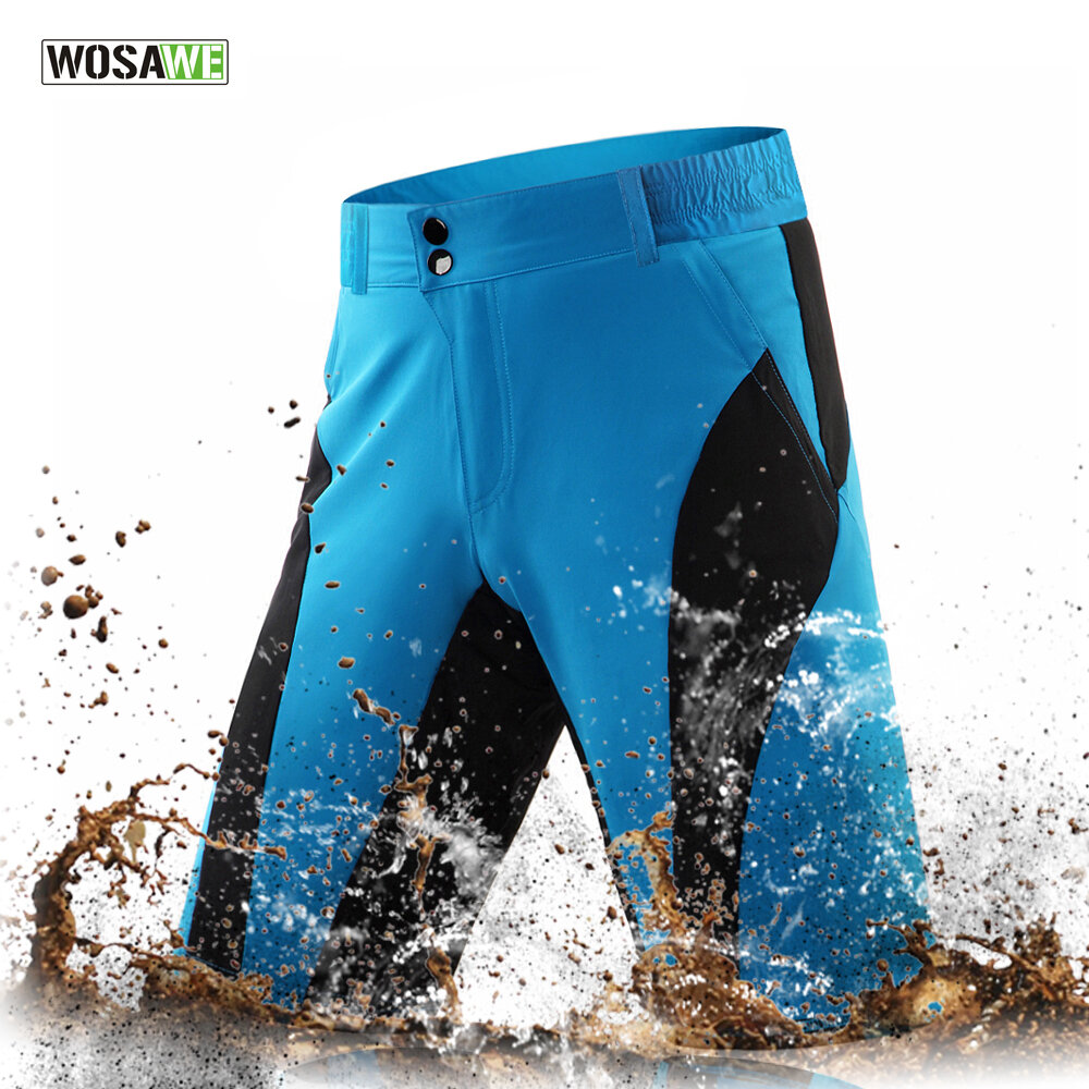 WOSAWE Leisure Cycling Shorts Imperméable à l'eau et à sec Sports Trous Downhill Bike Bicycle Fitness