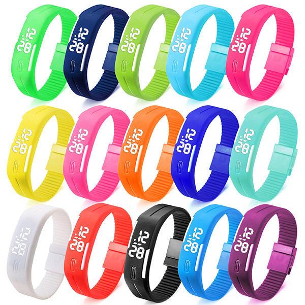 Купить B4A унисекс LED прямоугольные спортивные цифровые часы-браслет