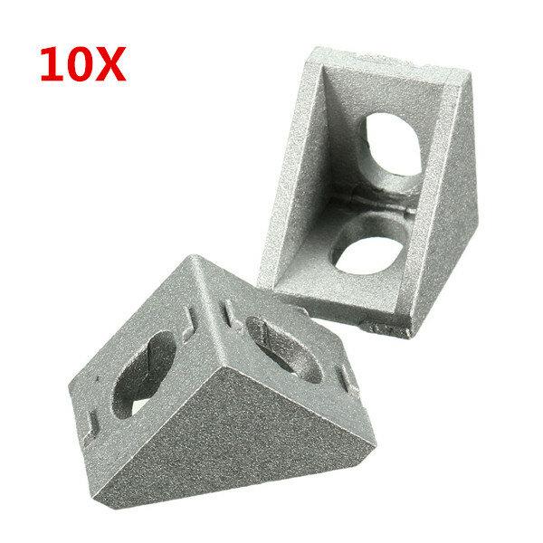 Suleve™ AJ20 Aluminium Angle Corner Joint 20x20mm Right Angle Bracket Furniture Fittings 10pcs