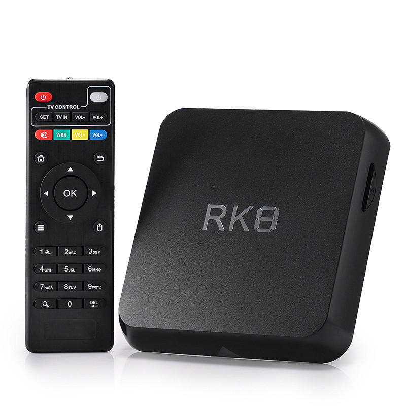 RK8 Android 5.1 RK3368 Octa Core 2GB / 8GB 2.4GHz / 5.8GHz WiFi 1000M BT 4.0 HD TV Caja Android Mini PC