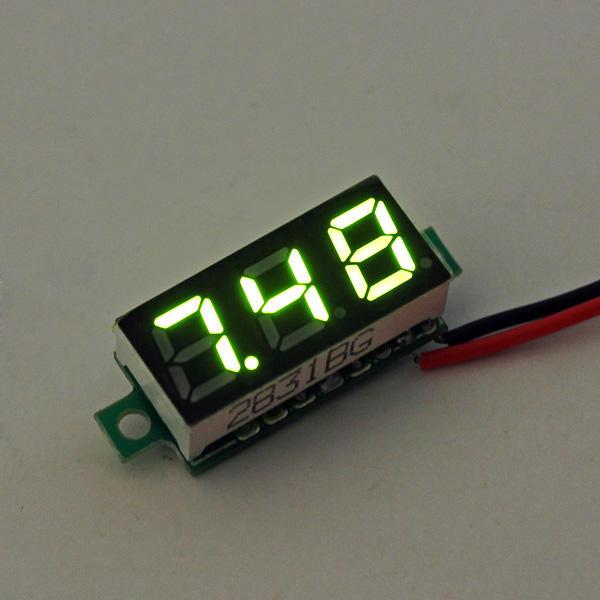 3Pcs Geekcreit® Green 0.28 Inch 2.6V-30V Mini Digital Volt Meter Voltage Tester Voltmeter
