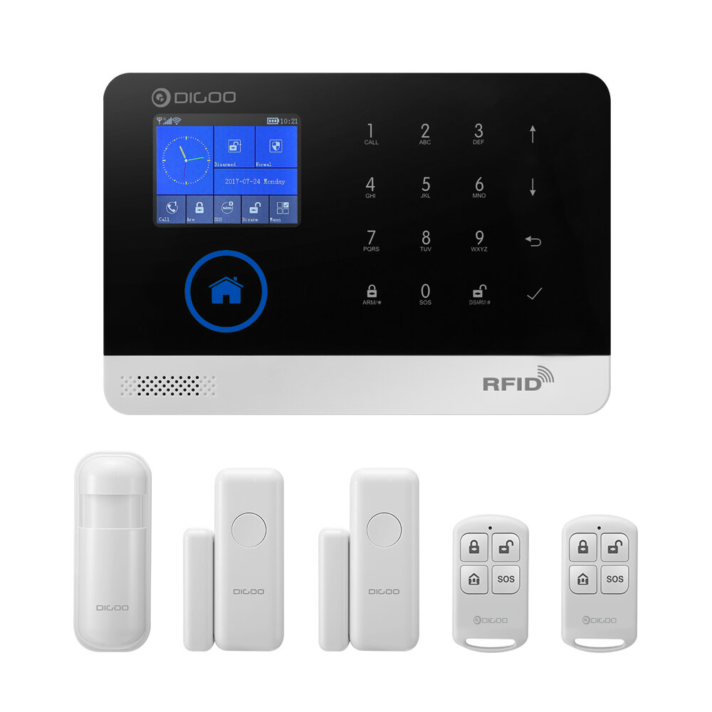 Collection Here Silver Aluminum Mini Small Tablet Charging Alarms Display Support With Remote Control Function Security & Protection Security Alarm