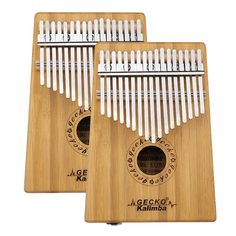 GECKO K17BA 17 keys Kalimba Bamboo B Tone Thumb Piano Finger With Tune Hammer