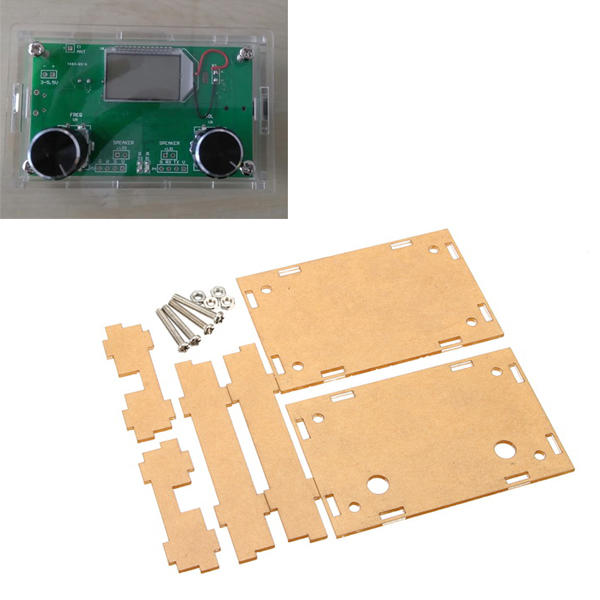 Transparent Acrylic Sheet Housing Case For DSP & PLL Digital Stereo FM Radio Receiver Module
