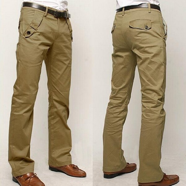 Spring Autumn Zipper Fly Business Low Waist multi pockets Casual Pants for Men