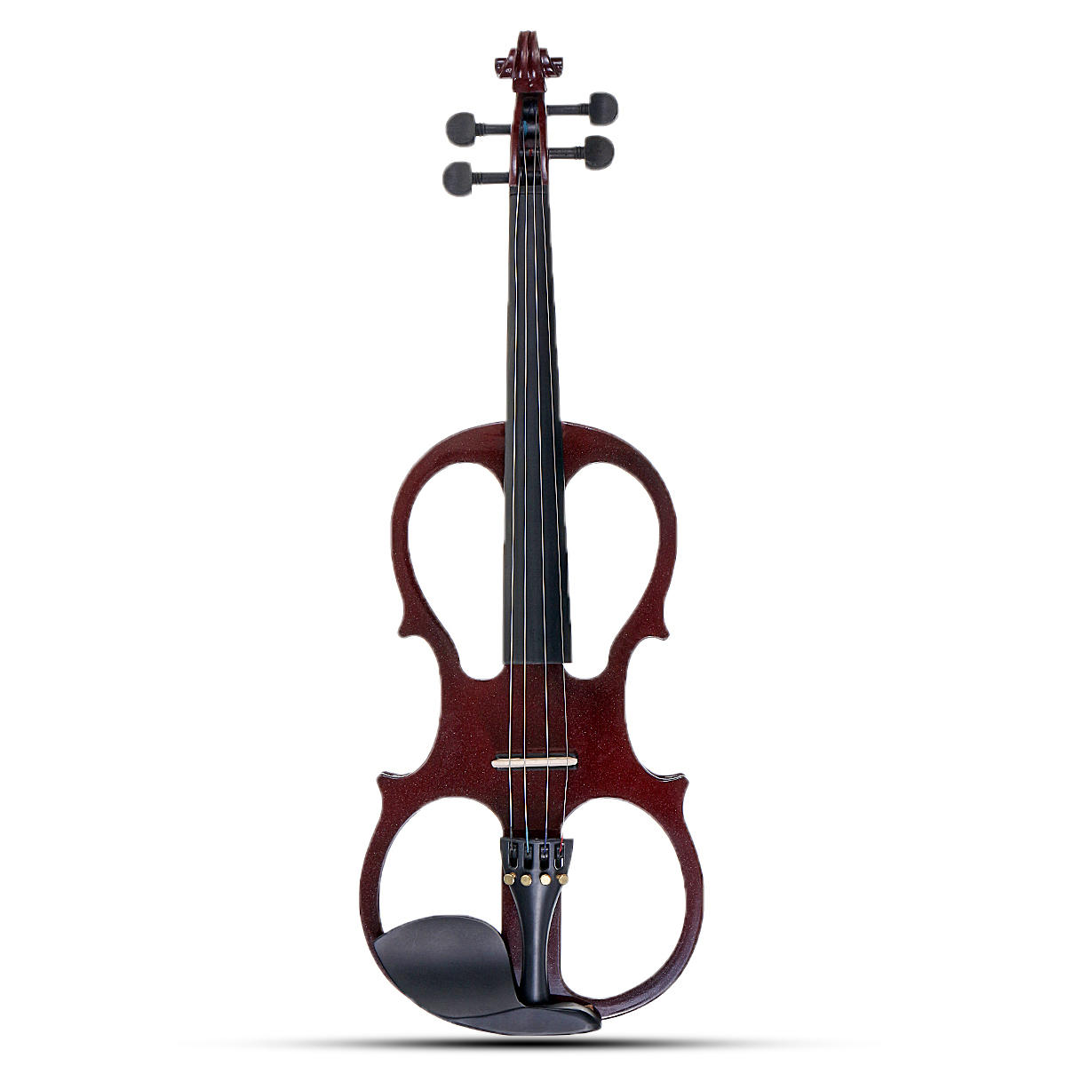 4 4 electric violin full size basswood with connecting line earphone case for beginners sale. Black Bedroom Furniture Sets. Home Design Ideas