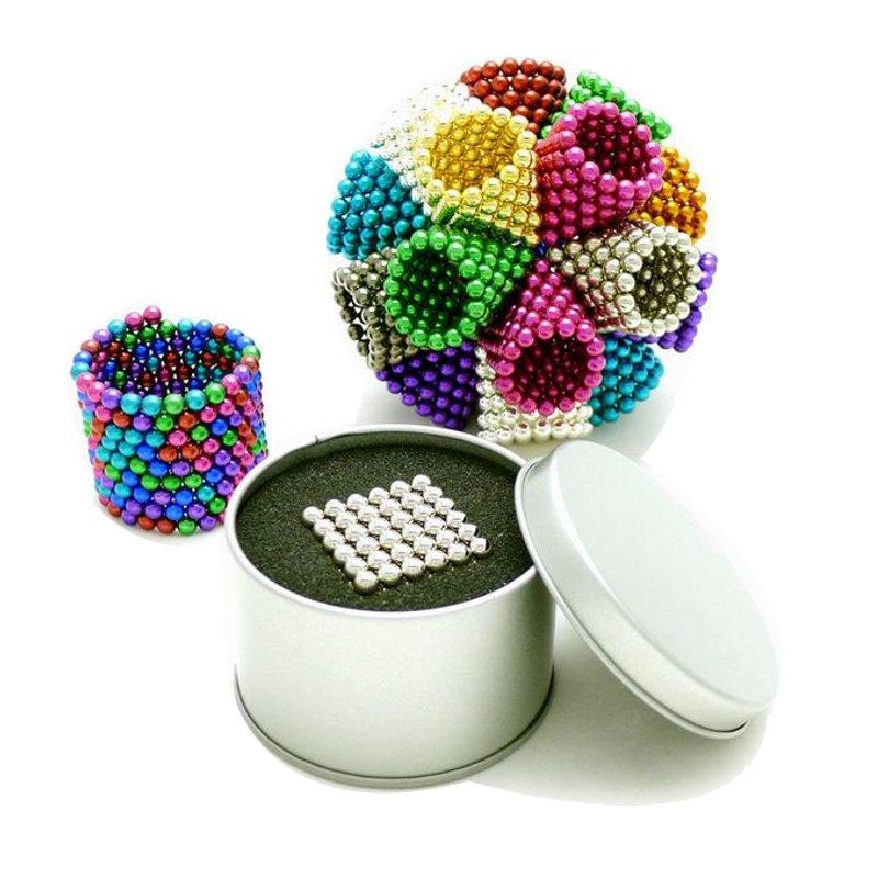222Pcs Per Lot 6mm Multi-Colror Magnetic Buck Balls Intelligent Cube Magic Beads Puzzle Toys