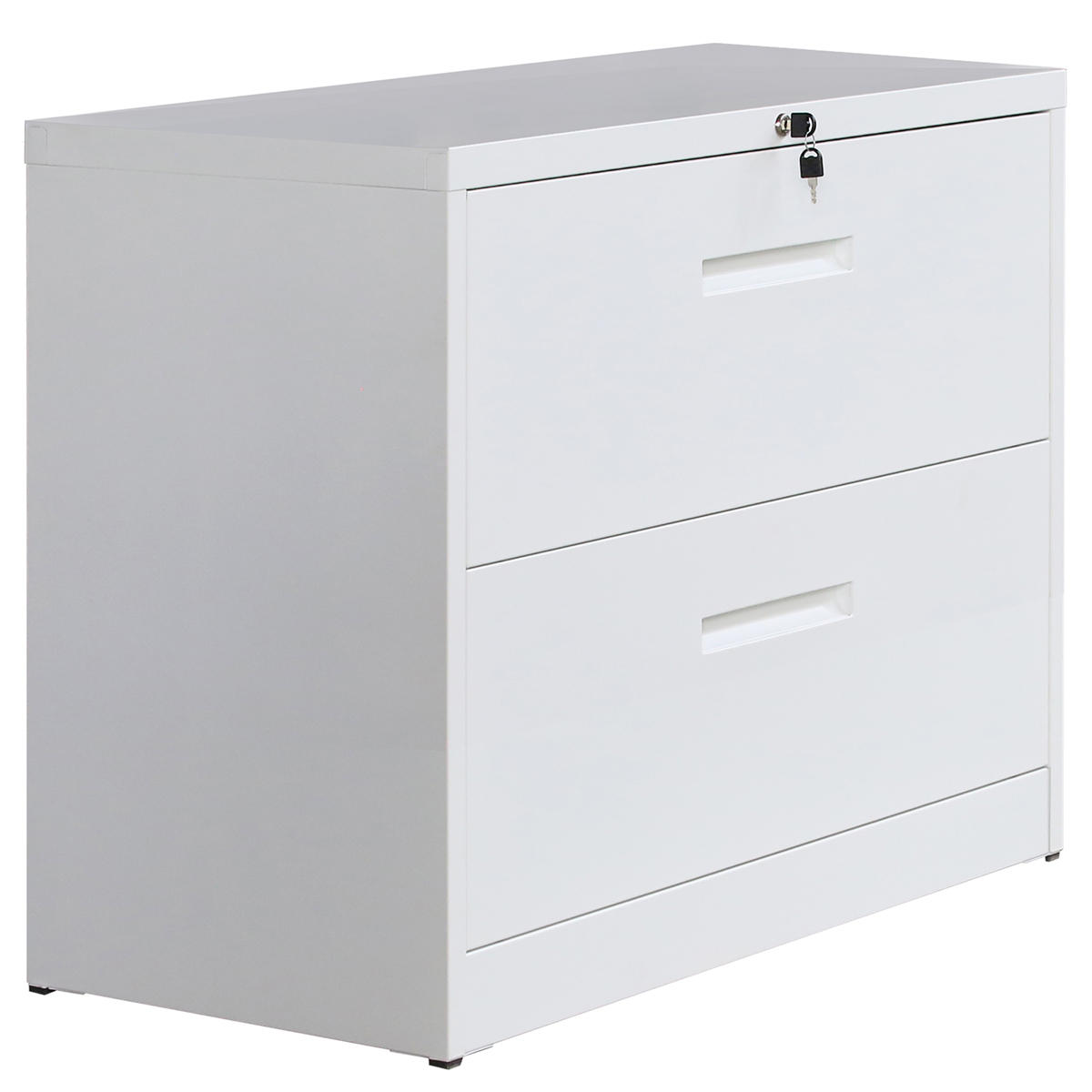 2 drawers office file cabinet lockable metal lateral file document rh banggood com