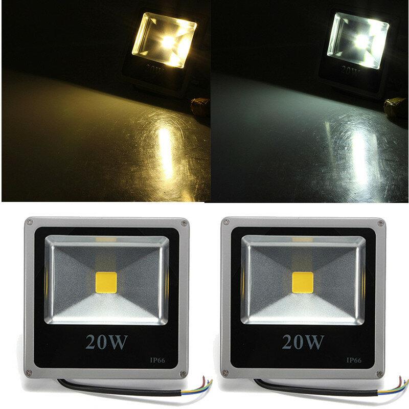 20w Whitewarm White Led Flood Light Gray Black Shell Ac 85 265v
