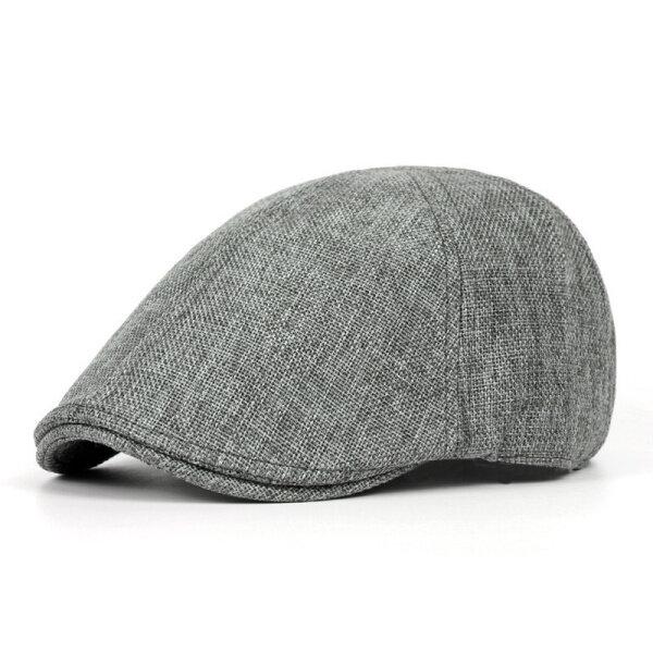 ユニセックスメンズヴィンテージ65%ポリエステル35%コットンベレー帽カジュアルソリッドカラーフォワードキャップ