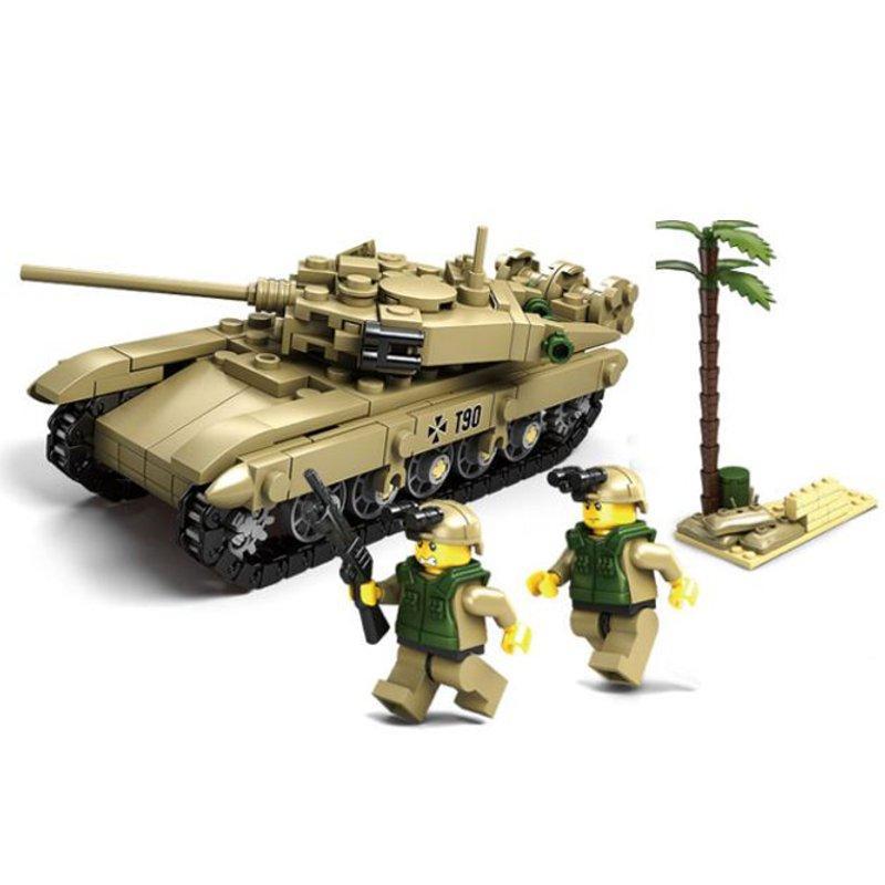 Kazi Tank Team Building Block Sets Toys Educational Gift Fidget Toys #84042 296 Push Pcs