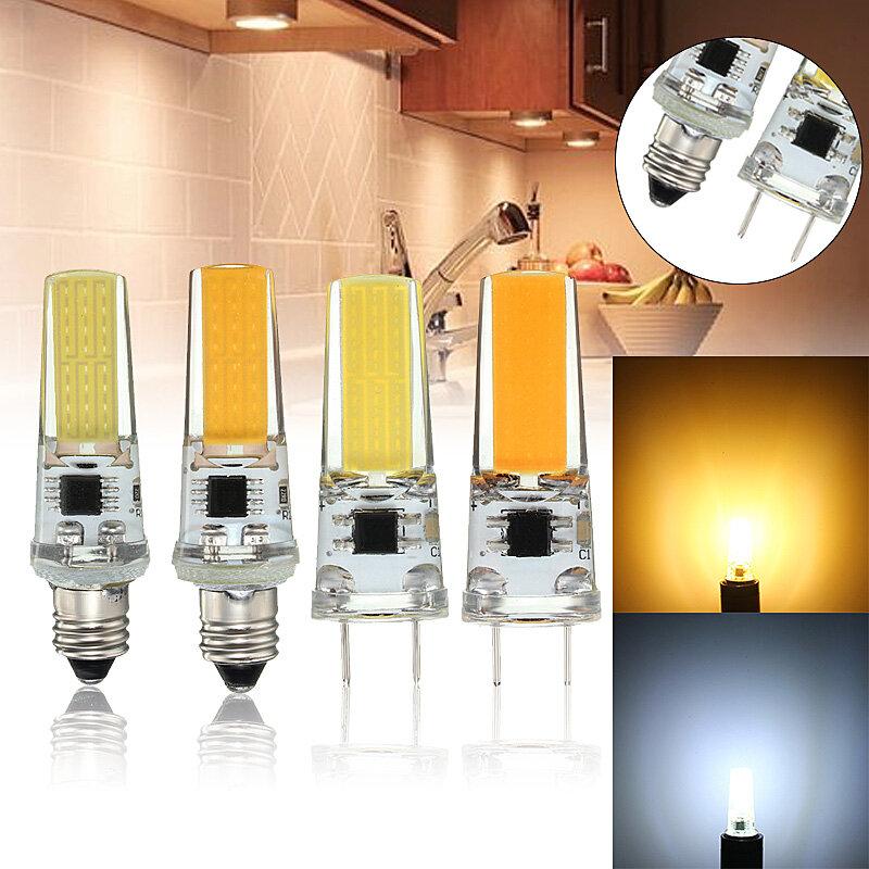 AC110V Dimmable E11 G8 2.2W 180LM Pure White Warm White LED COB Silica gel Light Bulb
