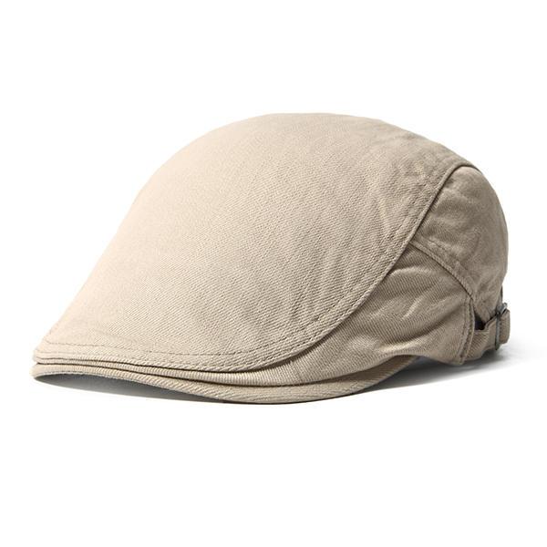Men Women Cotton Beret Caps Casual Warm Visor Forward Hat Adjustable Peaked Cap