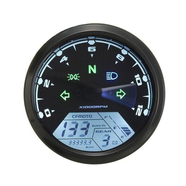 Lcd 12000rmp Compteur De Vitesse Numerique Odometre Moto 1 4