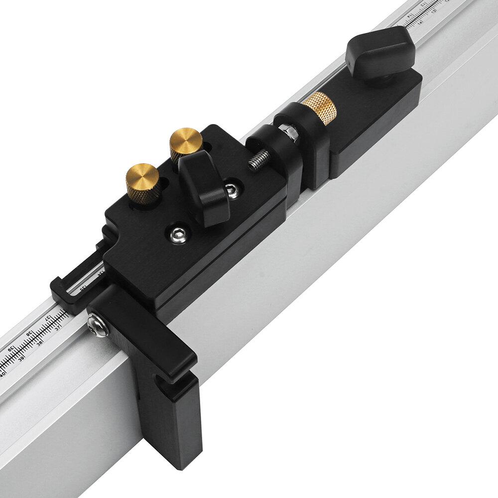 Drillpro Carpintería herramienta Tope abatible con ajustes microajustables T-Track Stop para valla de inglete