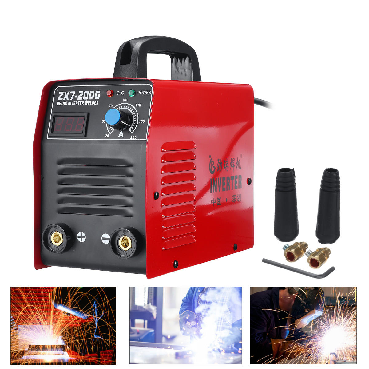 220V ZX7-200 Electric IGBT Inverter MMA ARC Welding Soldering Machine Red