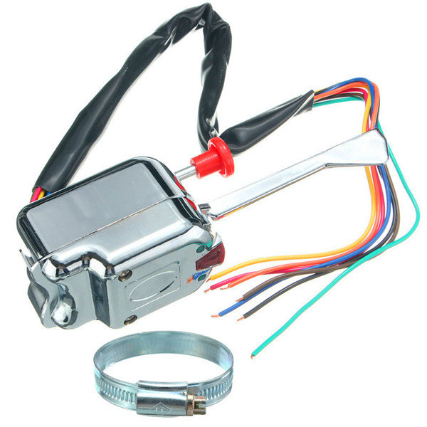 Chrome 12V Universal Street Hot Rod Turn Signal Switch for Ford ...