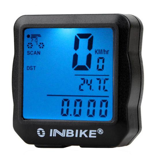 INBIKE 528 Проводной велосипедный компьютер Водонепроницаемая задняя лампа Цифровой спидометр Цикл Вело-одометр