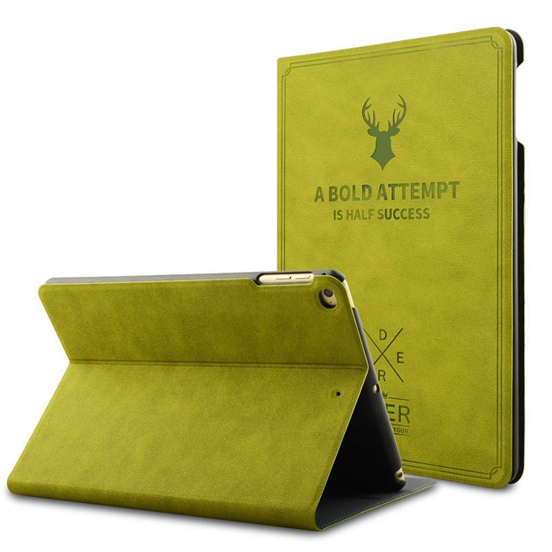 Vintage Smart Sleep Kickstand PU Leather Case For iPad 2/iPad 3/iPad 4