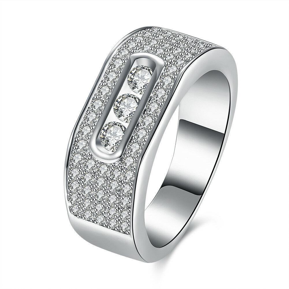 INALIS 지르콘 선물 결혼 기념일 결혼 반지