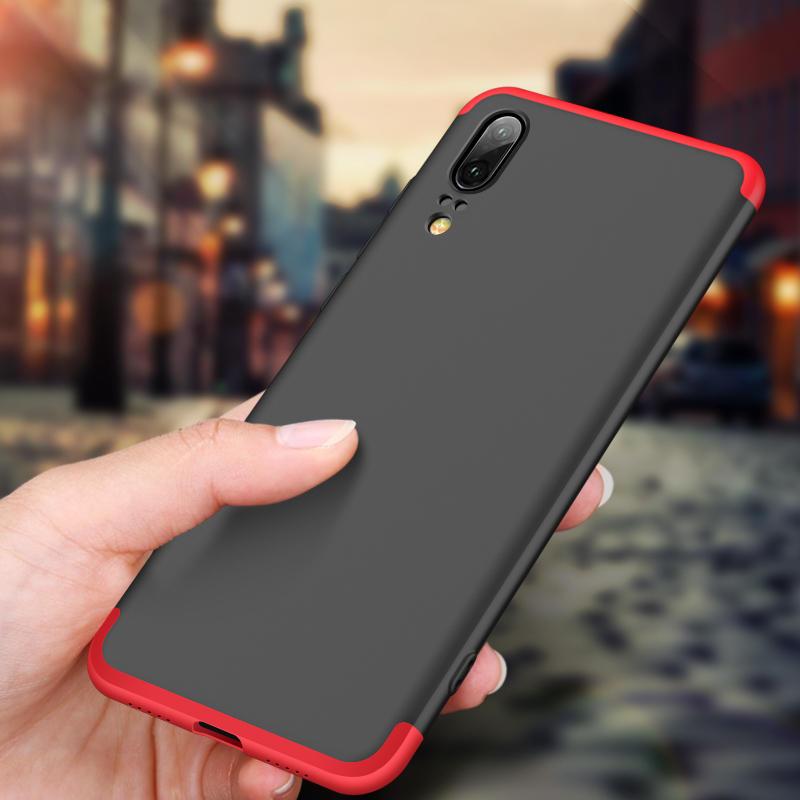 Bakeey ™ 3 in 1 Double Dip 360 ° Full Hard ПК Cover Защитный Чехол Для Huawei P20