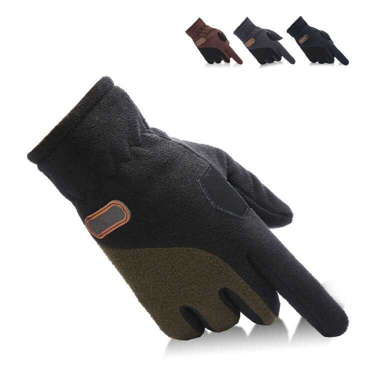 Unisex Thermal Fleece Driving Golves Outdooors Sports Ciclismo Touch Touch Adjustable Mittens