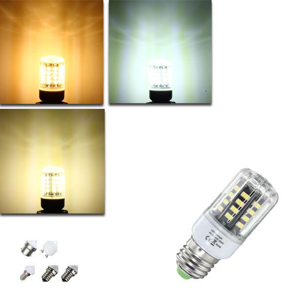 E27 E17 E14 B22 GU10 3 วัตต์ 40 SMD 5736 LED โทนแสงสีขาวสีขาวหลอดไฟนีออนสีขาวอ่อน AC85-265V