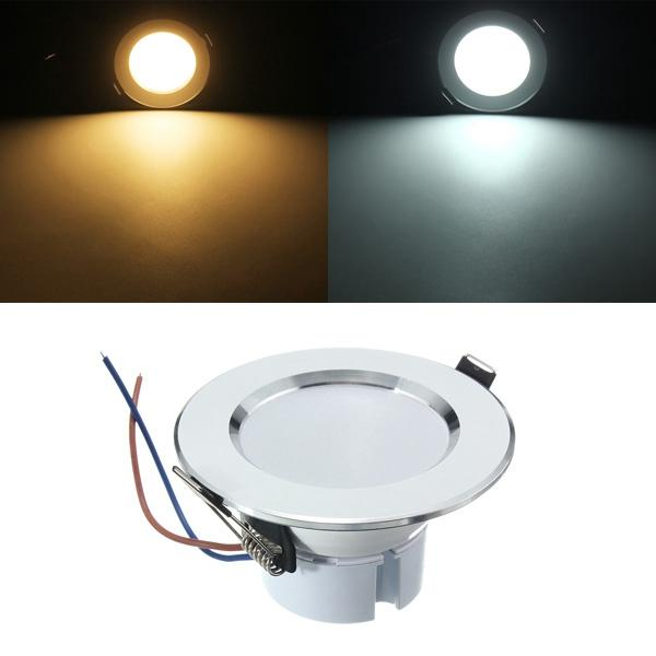 3W LED Panel Recessed Lighting Ceiling Down Lamp Bulb Fixture AC 85-265V