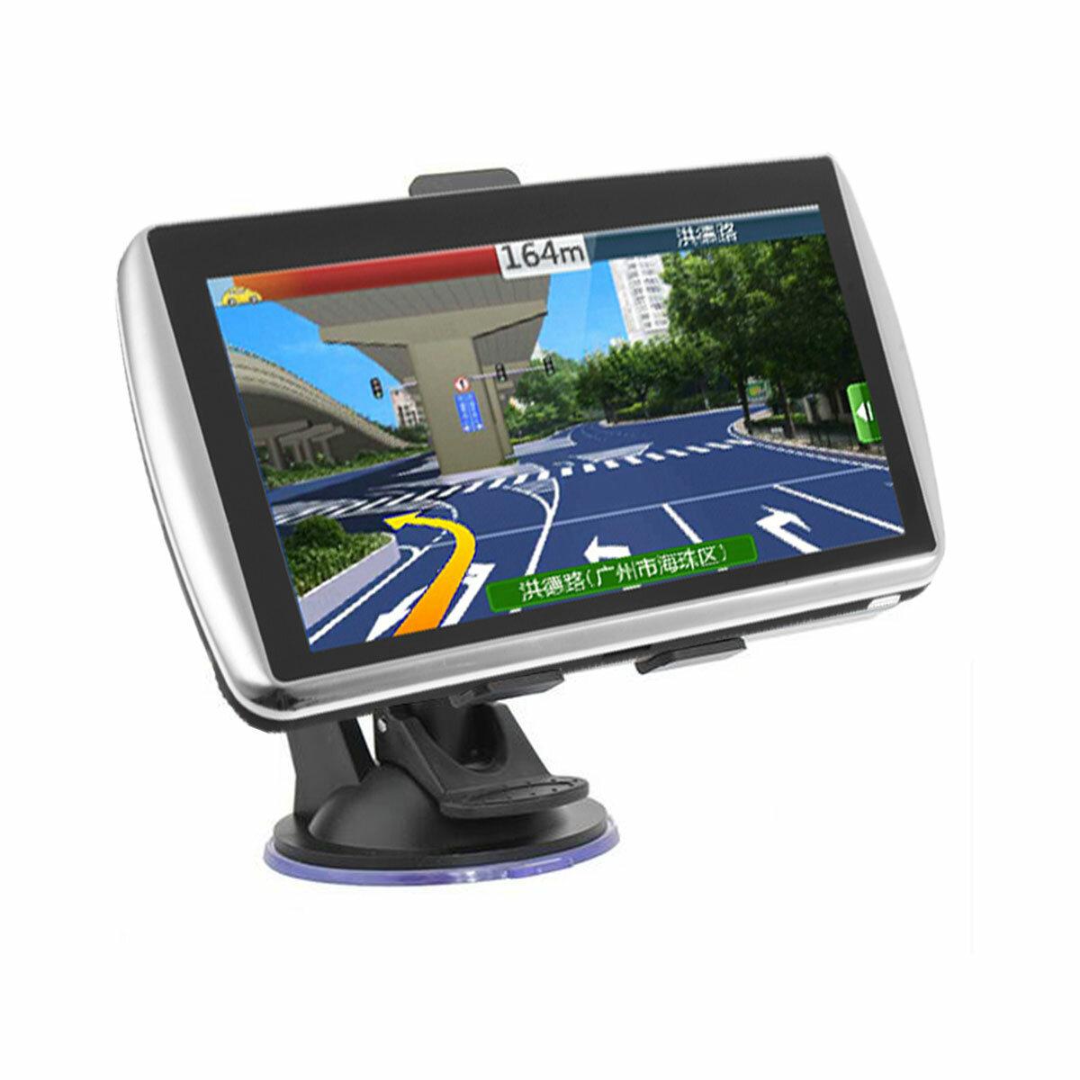 7 Inch Coche Navegación GPS Sat Nav TFT LCD Soporte de pantalla táctil América del Norte Europa Mapa