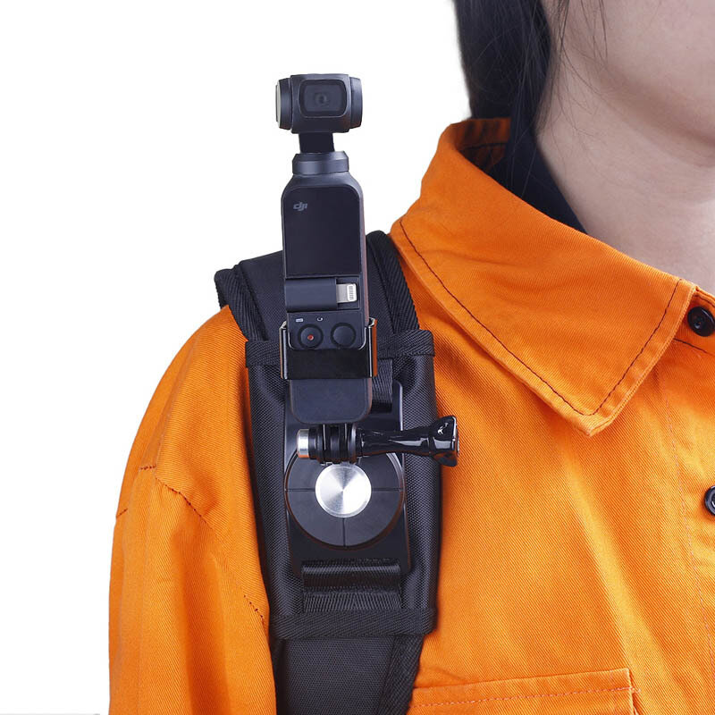 OSMO Pocket Accessories Gimbal Backpack Strap Fixed Mount Adapter For GoPro Camera DJI Gimbal