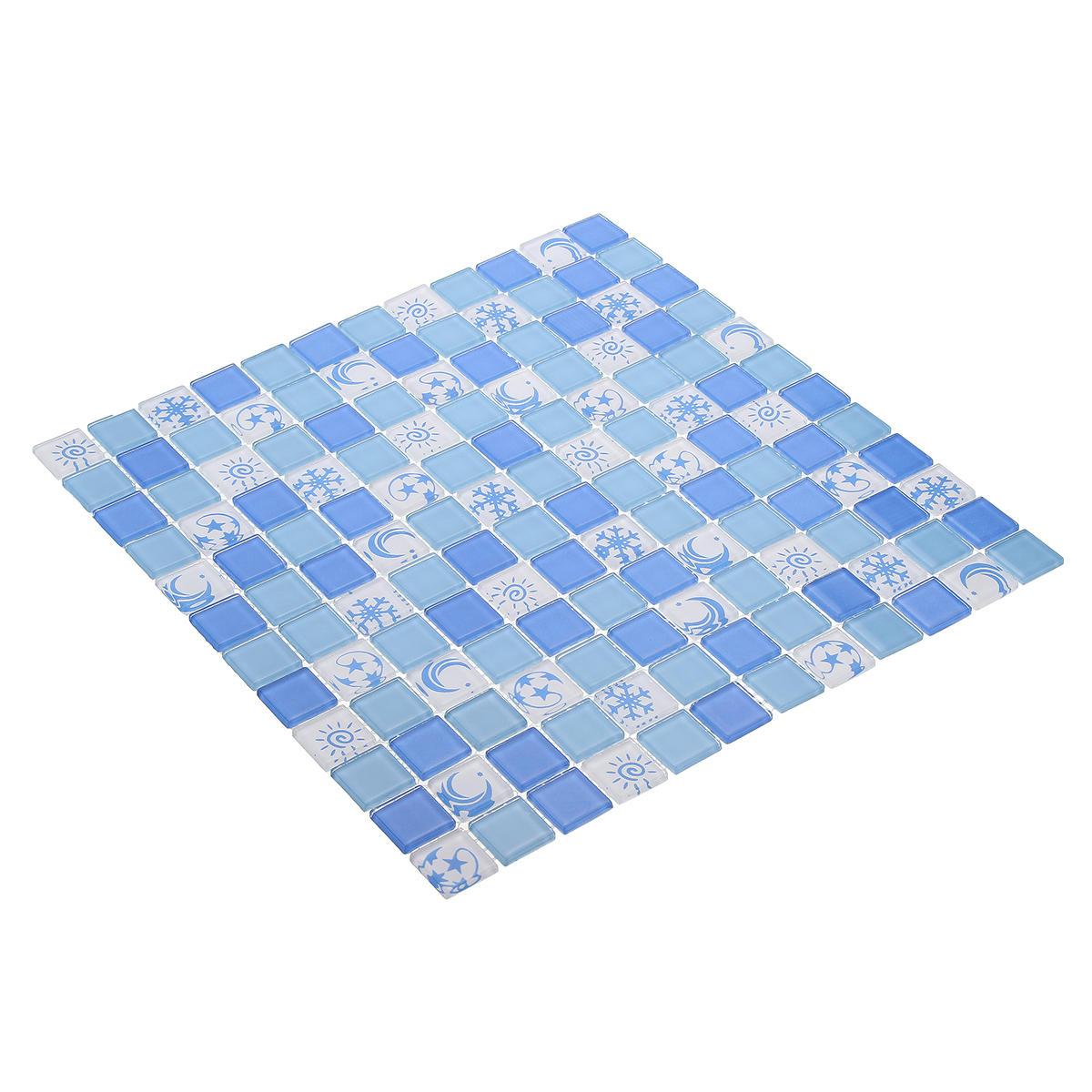 Adesivo da parete impermeabile in mosaico di cristallo 3D per arredo bagno