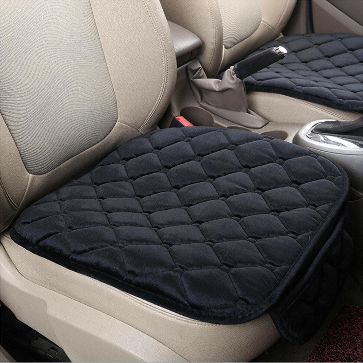 Coussin de siège avant de voiture en peluche couvre tapis de protection de siège de chaise respirante pour quatre saisons