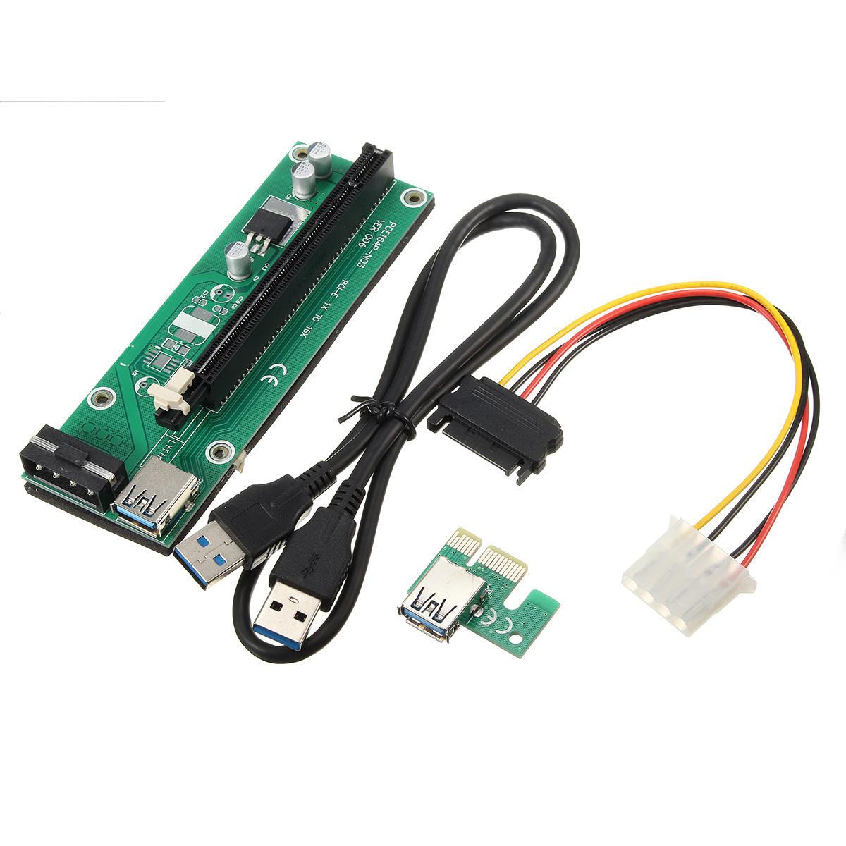 USB 3.0 PCI-E Express 1x to16x удлинительный кабель удлинительный адаптер платы платы SATA кабель