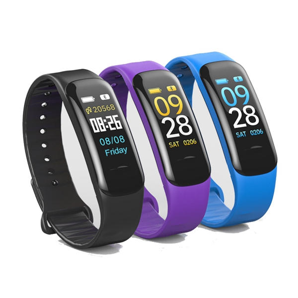 Bakeey C1 Plus Oxigênio de pressão arterial Coração Monitor de taxa Aptidão Tracker Bluetooth Pulseira inteligente