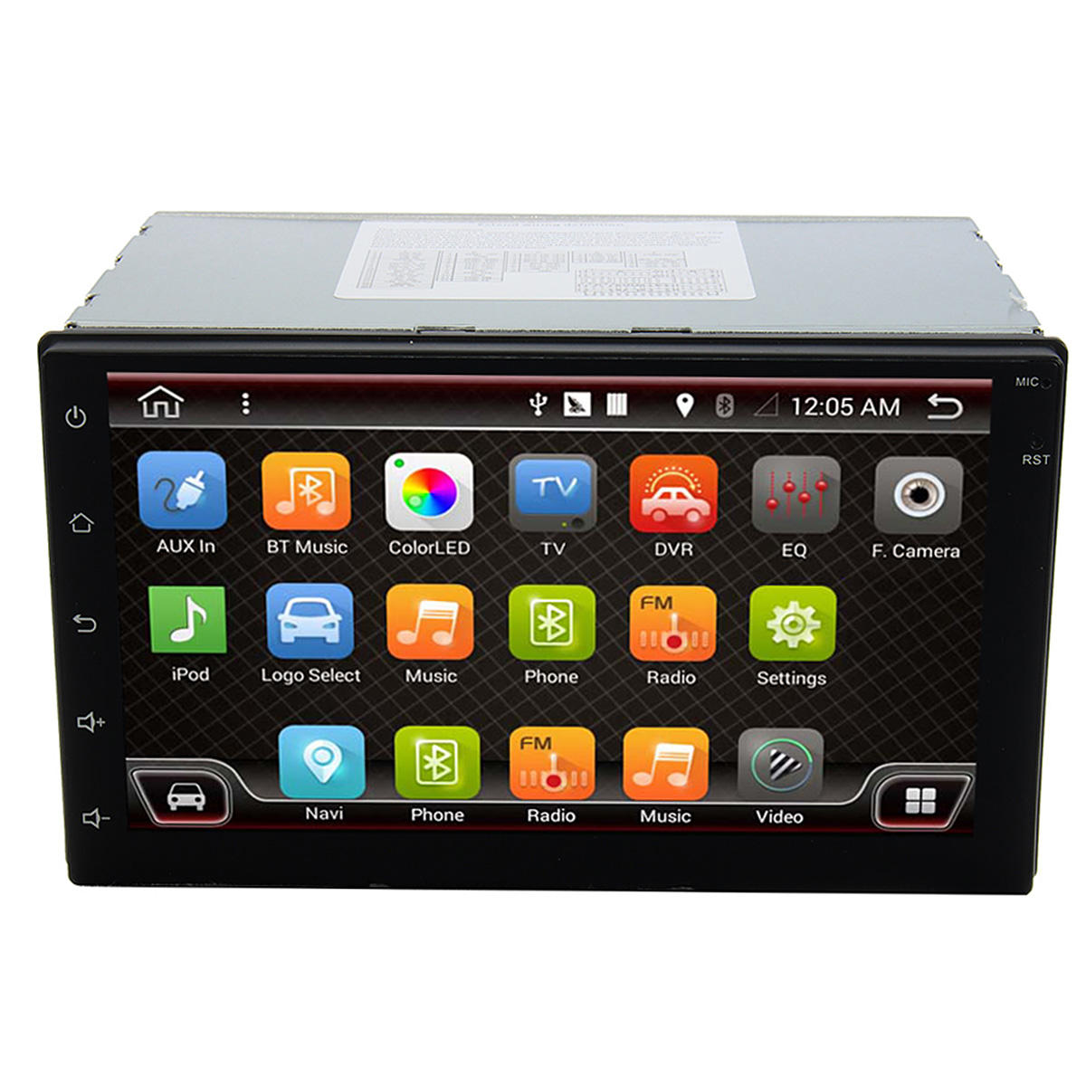 7 Inch Android 6.0 Double 2 DIN Sat Navigation Coche Navegación GPS Stereo DAB