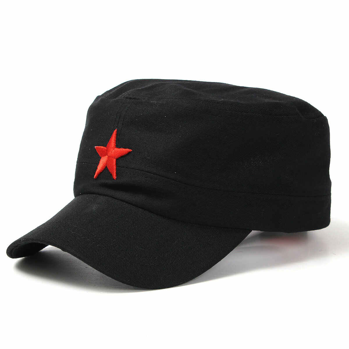 c7592b8ad56 Unisex Red Star Cotton Army Cadet Military Cap Adjustable Durable Flat Top  Hats COD