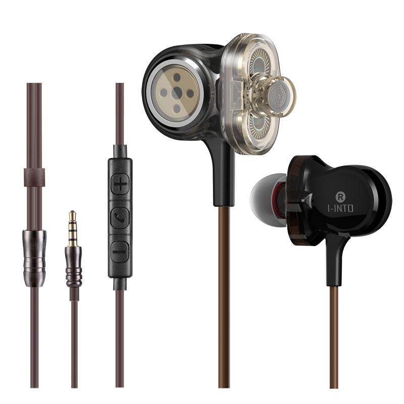 I-INTO I8 Hifi 6 Sürücüler Telefon Kulaklığı 3 Dinamik Sürücüleri 3.5mm Jack Gürültü Ağır Bas Kulaklık