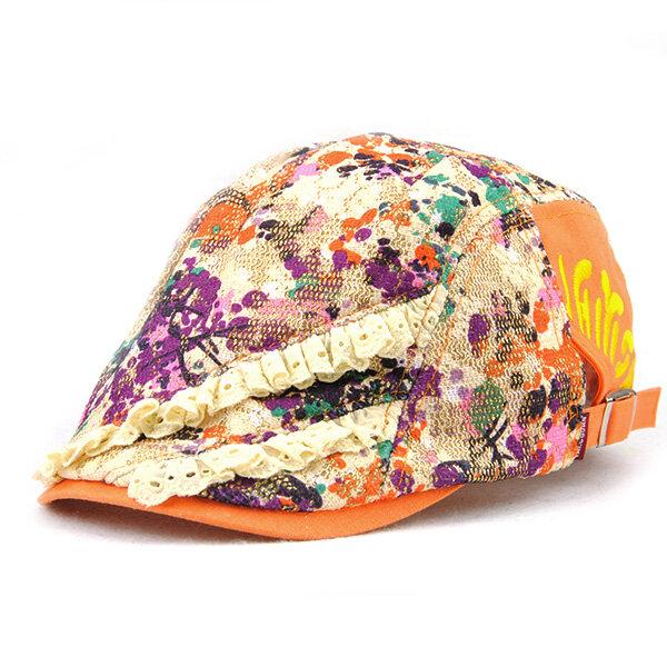 ผ้าฝ้ายลายดอกกุหลาบสีดำพิมพ์ลายหมวกนิลหัวเข็มขัดเด็กชายที่สามารถปรับได้ Cabbie Golf Breathable Cap