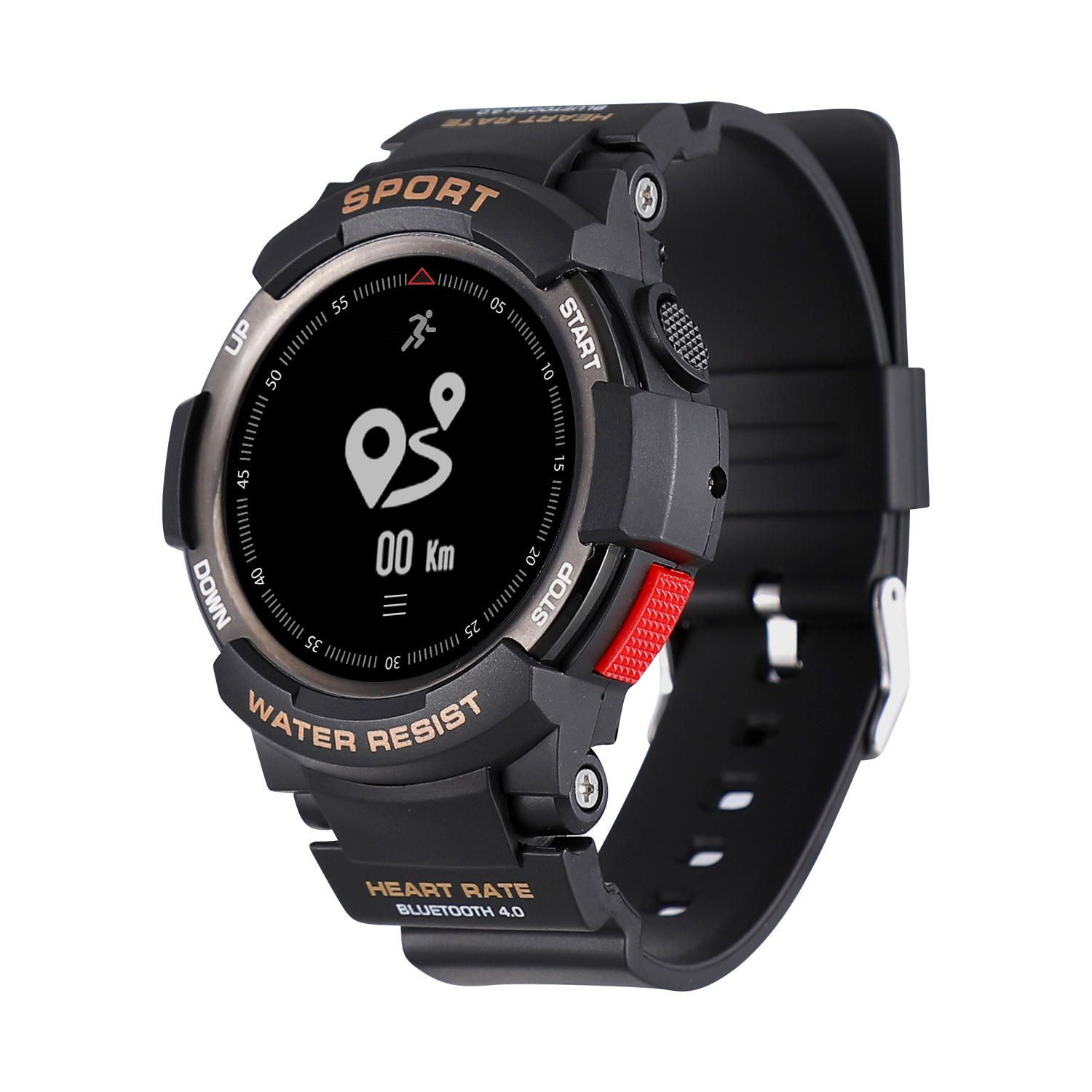 NO.1 F6 0.96inch OLED GPS 50Days USE Heart Rate Monitor 50Meters Waterproof Sport Smart Watch