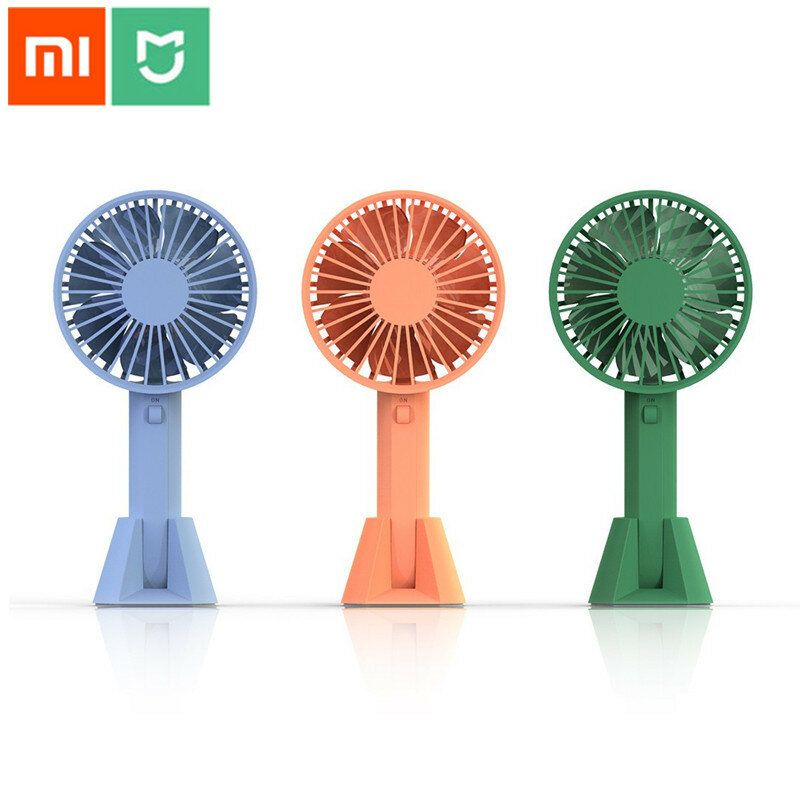 Household Appliances Small Air Conditioning Appliances Summer Portable Cute Mini Fan Sponge Blade Battery Electric Flashlight Handheld Flashlight Fan Matching In Colour
