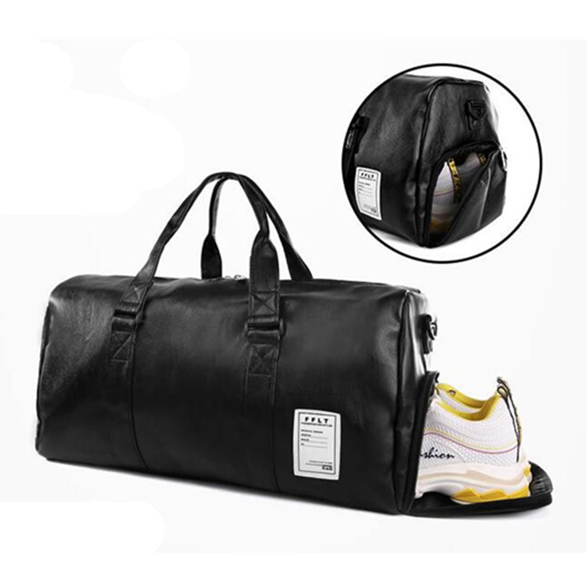 33L Outdoor Sports Gym Duffel Shoulder Bag Travel Luggage Handbag Shoe  Storage Organizer Men Women COD f09ba052cd03f