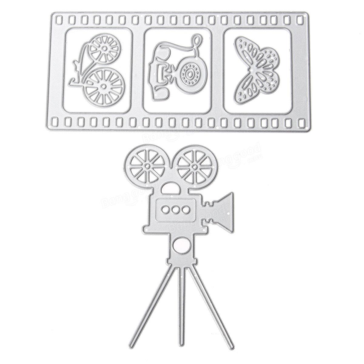 DIYプロジェクターフィルムバタフライ電話金属切削ダイススクラップブッキングアルバムデコレーションエンボス