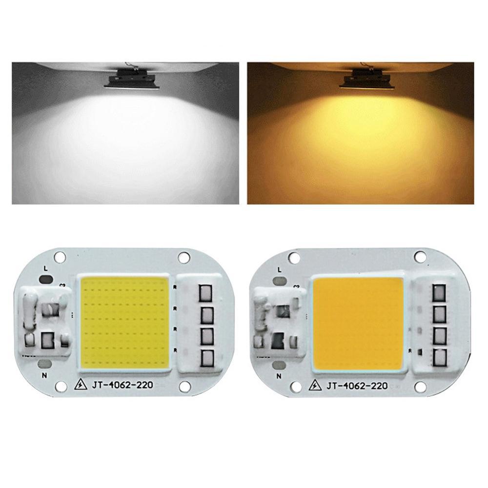 LUSTREON DIY洪水光のためのAC160  -  260V 20W 30W 50W白い/暖かい白いCOB LEDチップ