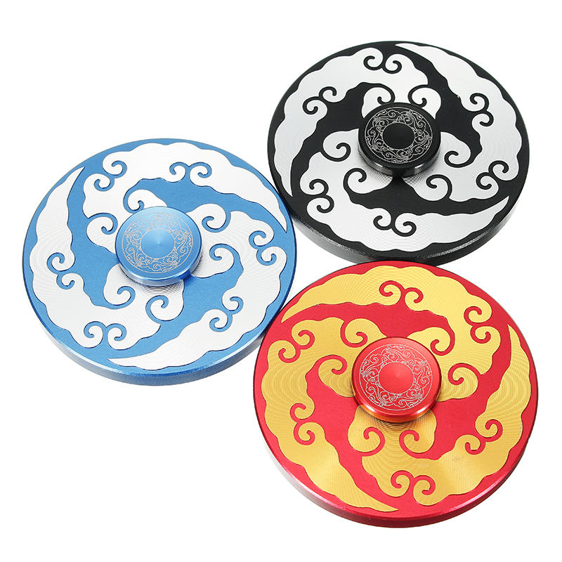 Clouds Totem Shape Round Rotating Fidget Hand Spinner ADHD Autism Reduce Stress Focus Attention Toys