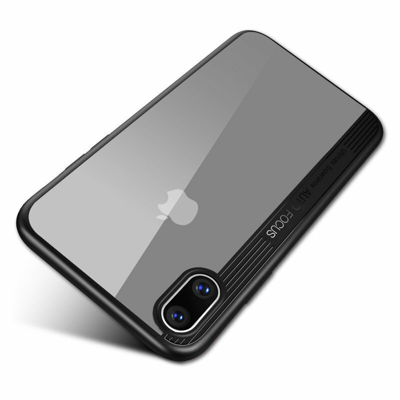 """Bakeey Protective Case For iPhone XS Max 6.5"""" Clear Transparent Shockproof Hybrid PC TPU Back Cover"""