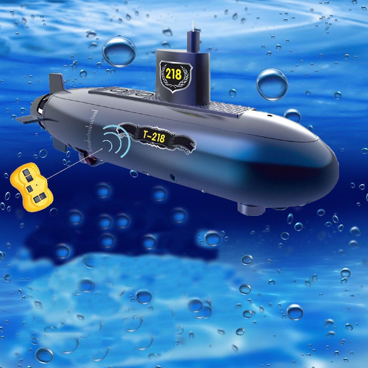 RC Mini sottomarino 6 canali remoto Controllo sotto il modello di nave per bambini Giocattolo per bambini